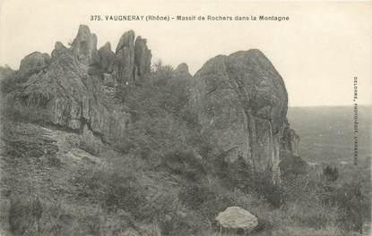 """CPA FRANCE 69 """"Vaugneray, massif de Rochers dans la Montagne"""""""