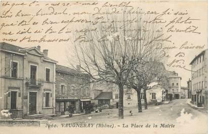 """CPA FRANCE 69 """"Vaugneray, place de la mairie"""""""