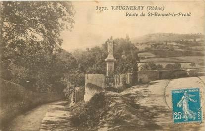 """CPA FRANCE 69 """"Vaugneray, route de Saint Bonnet le Froid"""""""