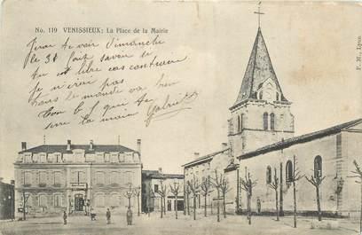 """CPA FRANCE 69 """"Vénissieux, la place de la Mairie"""""""