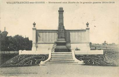 """CPA FRANCE 69 """"Villefranche sur Saône, le monument aux morts"""""""