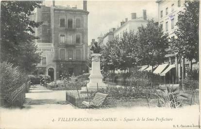 """CPA FRANCE 69 """"Villefranche sur Saône, square de la Sous Préfecture"""""""