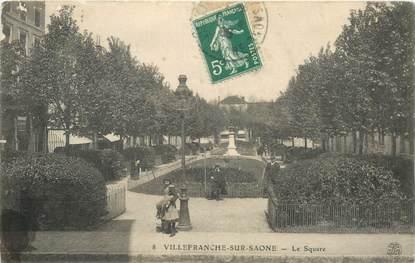 """CPA FRANCE 69 """"Villefranche sur Saône, square"""""""