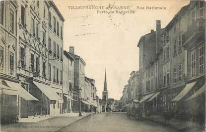 """CPA FRANCE 69 """"Villefranche sur Saône, Rue Nationale, Porte de Belleville"""""""
