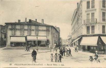 """CPA FRANCE 69 """"Villefranche sur Saône, rue de Thisy"""""""