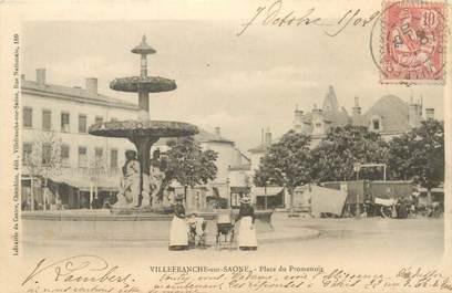 """CPA FRANCE 69 """"Villefranche sur Saône, place du Promenoir"""""""