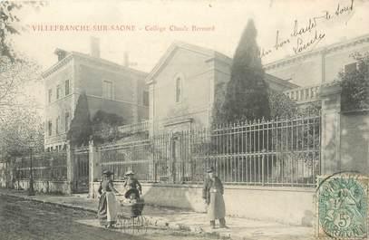 "CPA FRANCE 69 ""Villefranche sur Saône, collège Claude Bernard"""