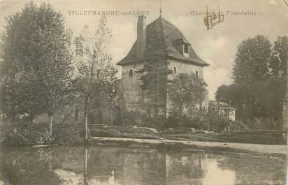 """CPA FRANCE 69 """"Villefranche sur Saône, Chateau de Foncraine"""""""