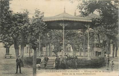 """CPA FRANCE 69 """"Villefranche sur Saône, Kiosque à Musique, place de la Préfecture"""""""