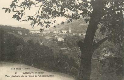 """CPA FRANCE 69 """"Yzeron, vue générale de la route de Chateauvieux"""""""
