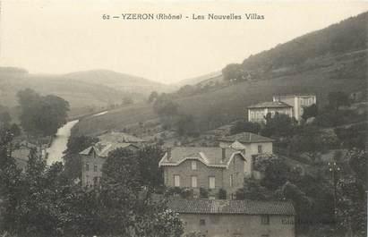 """CPA FRANCE 69 """"Yzeron, les Nouvelles villas"""""""