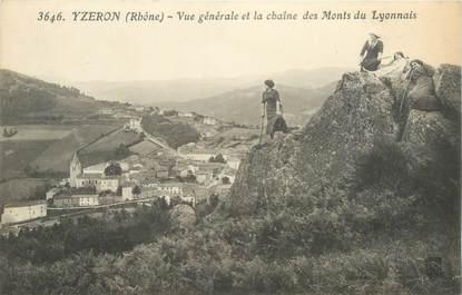 """CPA FRANCE 69 """"Yzeron, vue générale et la chaine des Monts du Lyonnais"""""""