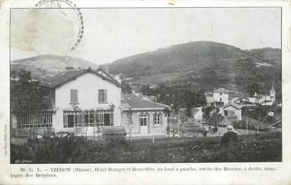 "CPA FRANCE 69 ""Yzeron, Hotel Bourget et Beau Site"""