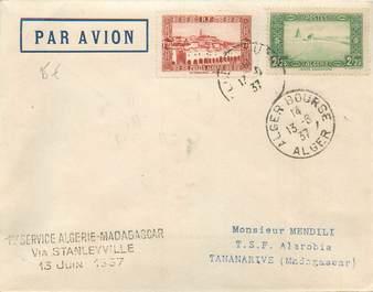 """MARCOPHILIE POSTE AERIENNE MONDE """"Algérie / Madagascar"""" sur Enveloppe"""