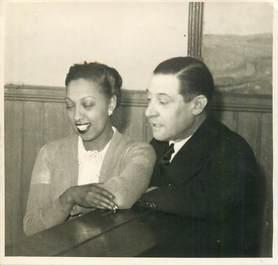 PHOTOGRAPHIE JOSEPHINE BAKER et Jean GABIN