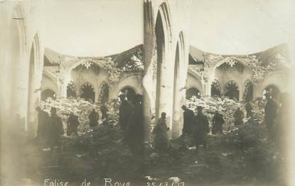 "CPA / PHOTOGRAPHIE FRANCE 80 ""Eglise de Roye, 1917"""