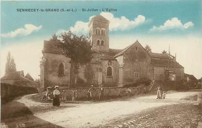 """/ CPA FRANCE 71 """"Sennecey le Grand, Saint Julien, l'église"""""""