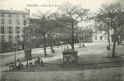 "/ CPA FRANCE 71 ""Macon, place de la barre"""