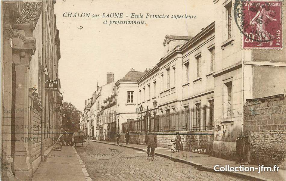 Cpa france 71 chalon sur saone cole primaire for Plan de chalon sur saone 71