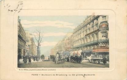 "CPA FRANCE 75010 ""Paris, Bld de Strasbourg"""
