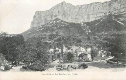 """CPA FRANCE 38 """"Choranche et les Rochers de Presle"""" / 1er tirage"""