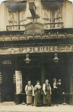 "CARTE PHOTO CAFE / RESTAURANT ""Au Petit Trianon"" / BIERE"