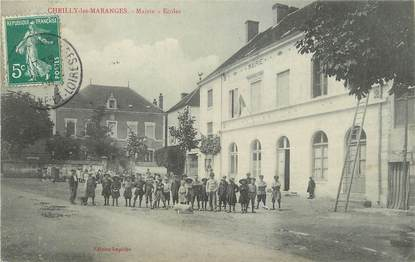 "/ CPA FRANCE 71 ""Cheilly les Maranges, mairie, écoles """