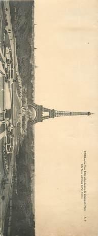 """CPA PANORAMIQUE FRANCE 75 """"PARIS, la Tour Eiffel"""""""