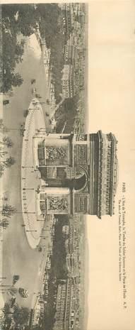 """CPA PANORAMIQUE FRANCE 75 """"PARIS, l'Arc de Triomphe"""""""