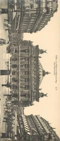 """CPA PANORAMIQUE FRANCE 75 """"PARIS, Le Théâtre de l'Opéra"""""""