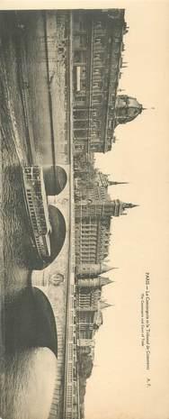 """CPA PANORAMIQUE FRANCE 75 """"PARIS, La Conciergerie et le Tribunal de Commerce"""""""