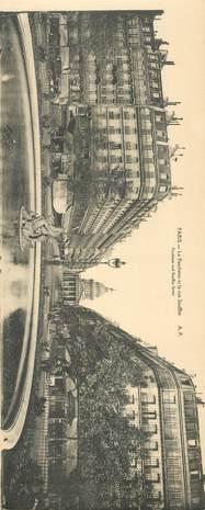 """CPA PANORAMIQUE FRANCE 75 """"PARIS, Le Panthéon et la rue Soufflot"""""""