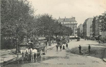 """/ CPA FRANCE 75017 """"Paris, square des Batignolles"""""""