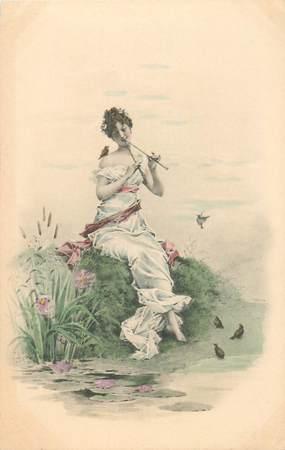 CPA ILLUSTRATEUR Lionel PERAUX / FEMME illustrée