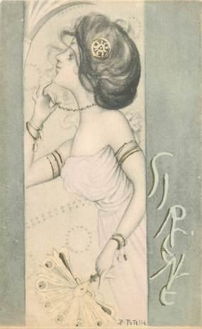 CPA ILLUSTRATEUR B. PATELLY / FEMME illustrée