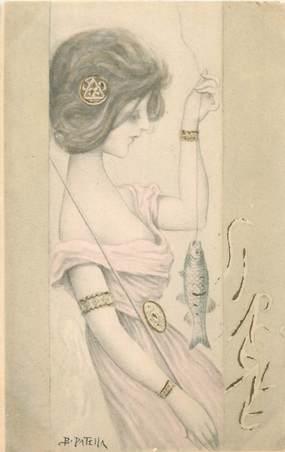 CPA ILLUSTRATEUR B. PATELLA / FEMME illustrée