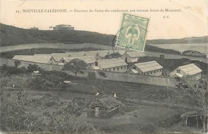 """CPA NOUVELLE CALEDONIE """"Enceinte du Camp des Condamnés aux travaux forcés de Montravel"""" / BAGNE"""