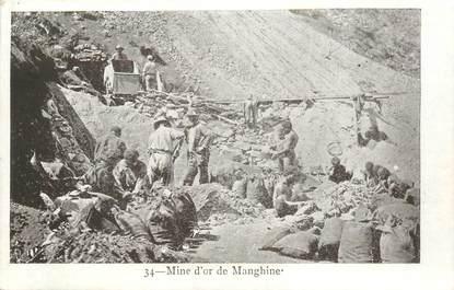 "CPA NOUVELLE CALEDONIE ""Mine d'Or de Manghine"" / BAGNE / BAGNARD ??"