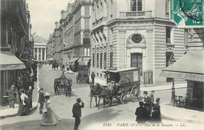 """/ CPA FRANCE 75002 """"Paris, rue de la banque"""""""