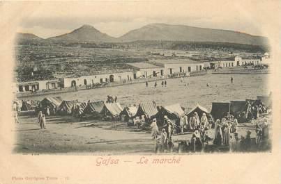 """CPA TUNISIE """"Gafsa, le Marché"""""""
