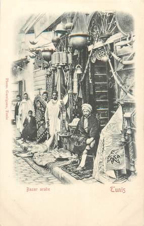"CPA TUNISIE ""Tunis, le bazar arabe"""