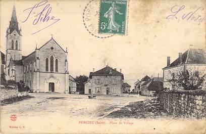 """CPA FRANCE 38 """"Porcieu, place du village"""""""