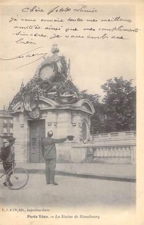 """CPA FRANCE PARIS / PARIS VECU """"La Statue de Strasbourg"""""""