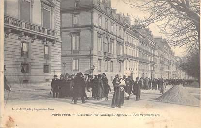 """CPA FRANCE PARIS / PARIS VECU """"L'Avenue des Champs Elysées, les promeneurs"""""""