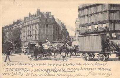 """CPA FRANCE PARIS / PARIS VECU """"Un Carrefour"""""""