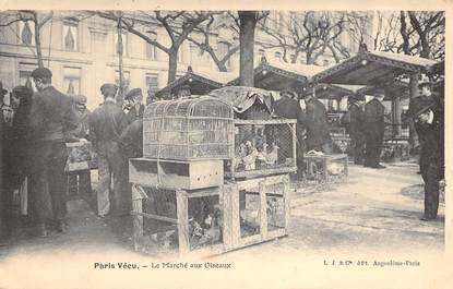 """CPA FRANCE PARIS / PARIS VECU """"Le Marché aux Oiseaux"""""""