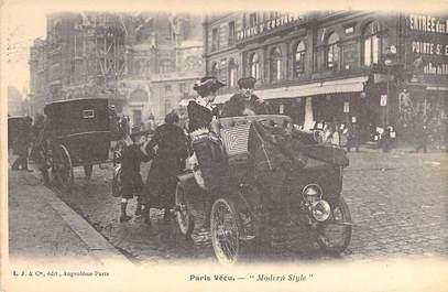 """CPA FRANCE PARIS / PARIS VECU """"Modern Style"""" / AUTOMOBILE"""