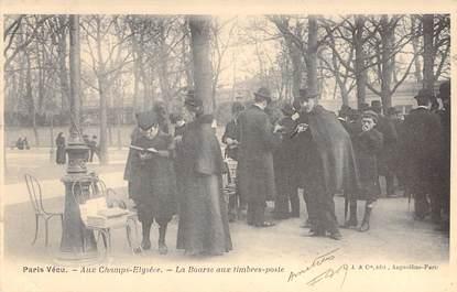 """CPA FRANCE PARIS / PARIS VECU """"La Bourse aux Timbres Poste"""""""