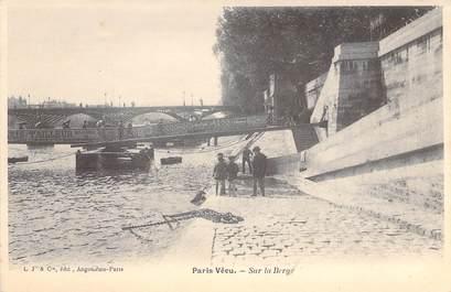 """CPA FRANCE PARIS / PARIS VECU """"Sur la Berge"""""""