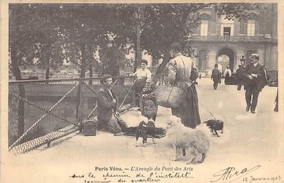 """CPA FRANCE PARIS / PARIS VECU """"L'Aveugle du Pont des Arts"""""""